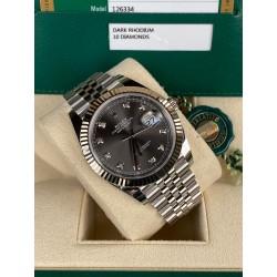Rolex Datejust 41mm New Rhodium Diamond Jubilee Italian