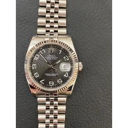 Rolex Date-Just 116234 Black Arab numbers full set