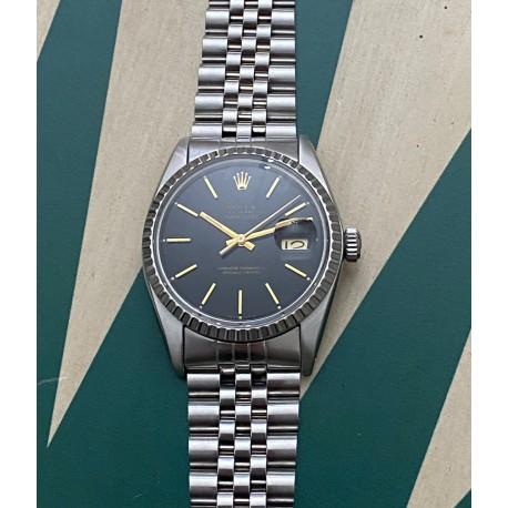 Rolex Datejust 16030 Black dial - gold index