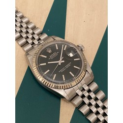 Rolex Datejust black gilt dial