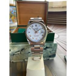 Rolex date-just 16030 Monetti warranty